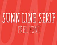 SUNN Line Serif Free Font