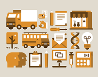 Flat Icons, Illustrations and Glyphs