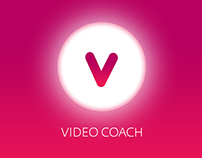 Web design for the corporate education app. Video Coach