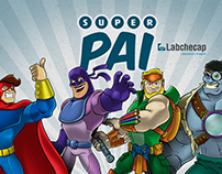 Character Design: Labchecap Father's Day SocialCampaign