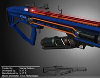 High caliber laser gun