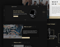 Creative Point. Creative Landing Page Design
