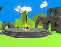Dark Souls Firelink Shrine - 3D Model (Low Poly)