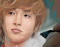 Leeteuk portrait painting