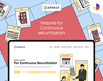 Website for Continuous Securitization by Bankex