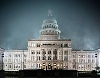 The Capital - Austin, Texas.  At night.