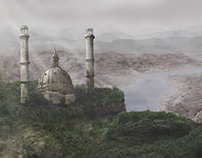 Matte Painting: Cherry Blossom Castle