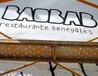 MURAL EN BAOBAB Restaurante Senegales