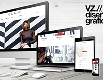 web design + advertising for CLAIR