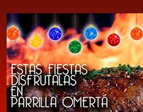 Parrilla Omertá - Flyer Navideño