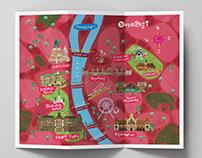Artistic mapof Budapest