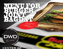 Menu for burger joint Bagdat