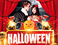 Halloween Thriller Night Party Flyer, PSD Template