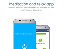 UI UX design for Meditation and relax App