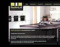 Keukenloft - Webdesign