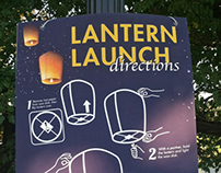 Lights in the Night: event signage