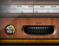 Old Futuristic Radio - UI Case study - iPad UI