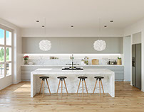 visualization of kitchen interior