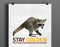Pygmy Raccoon Extinction Poster