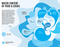 Water Content of Food and Goods Infographic