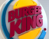 Burger King 3D logo