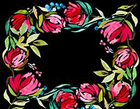Watercolor Digital Frames