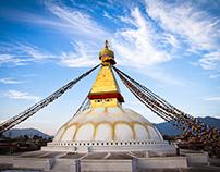 Boudhanath Stupa Restoration, Kathmandu, Nepal