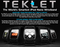TekLet-The World's Smartest iPod Nano 6g Wristband.