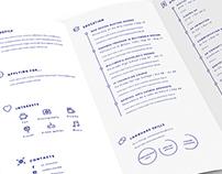 Tri-fold CV/Resumé