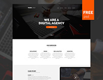 Free Simple Agency PSD Template