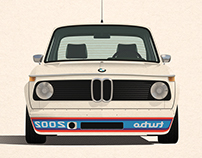 1974 BMW 2002 Turbo Print