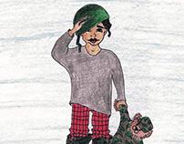 Children's Illustration-Little Soldier