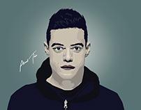 Rami Malek vector