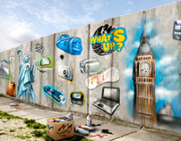 what's up reloaded - wall graffiti