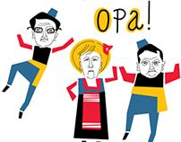 Angela Merkel in Greece