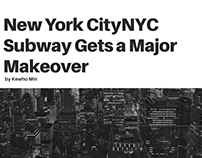 Kewho Min on the NYC Subway Makeover