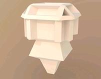blender 3d little robot modeling
