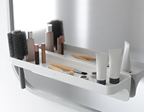 FLEX Tension storage rod & FLEX SURE LOCK Shelf | UMBRA
