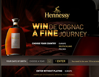 Hennessy - Win journey - Webdesign