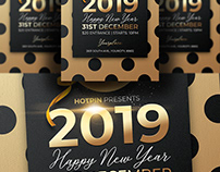 Classy New Year Invitation Flyer Template