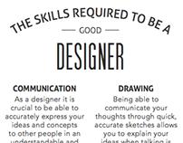 Industrial Design Skills Poster