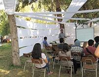 Espacio cine para Feria sustentabilidad UC 2014