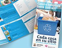 Diseño de folleto para Ayuntamiento de Amurrio