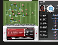 Soccer Live Station UI .