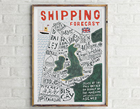 Shipping Forecast poster.