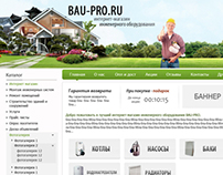 "Online shop of engineering equipment ""Bau-Pro.ru""."