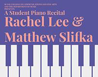 Student Piano Recital Poster