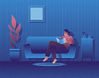 Reading A Book Illustration 04