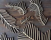 Wood Laser Cut Study: Norfolk Island Pine