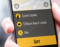 Gett - Reimagined home screen